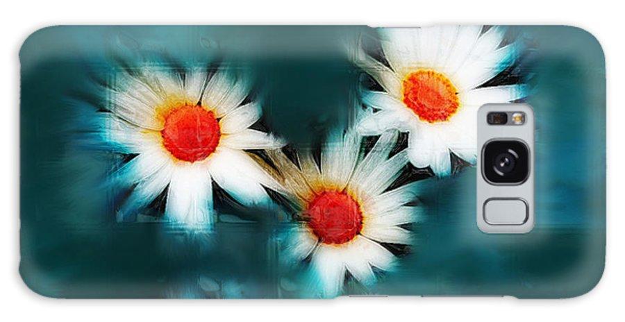 Flowers Galaxy S8 Case featuring the photograph Daisy Blue by Linda Sannuti