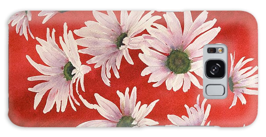 Flowers Galaxy Case featuring the painting Daisy Chain by Ruth Kamenev
