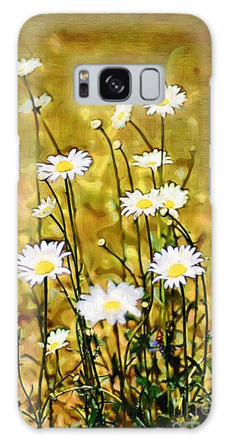 Daisy Galaxy S8 Case featuring the photograph Daisy Field by Donna Bentley