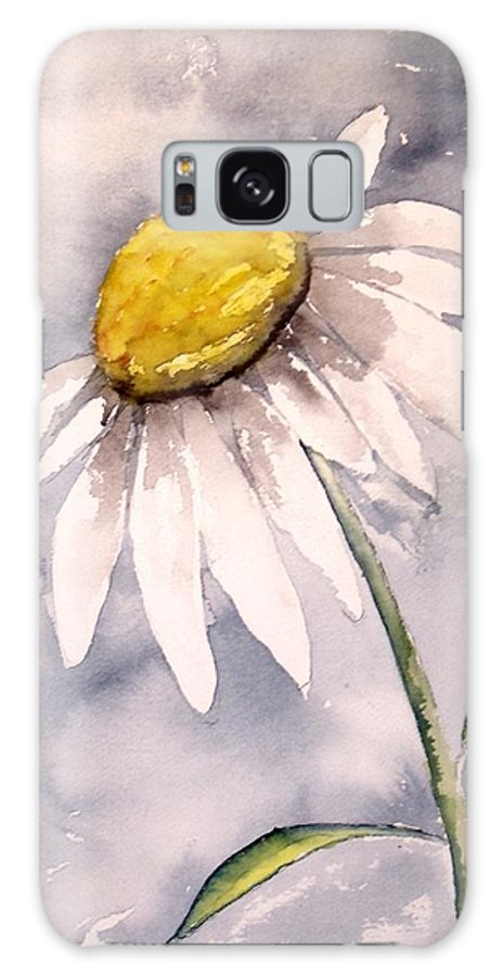 Daisy Galaxy S8 Case featuring the painting Daisy Modern Poster Print Fine Art by Derek Mccrea