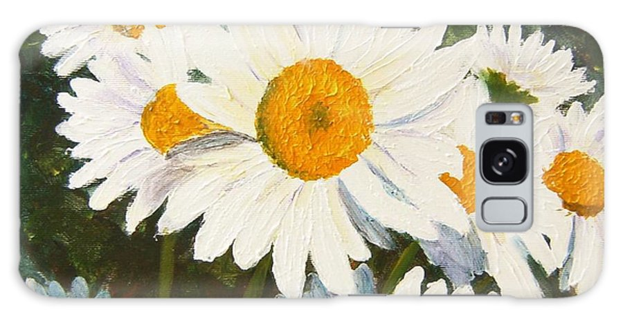 Daisy Galaxy Case featuring the painting Daisy by Tami Booher
