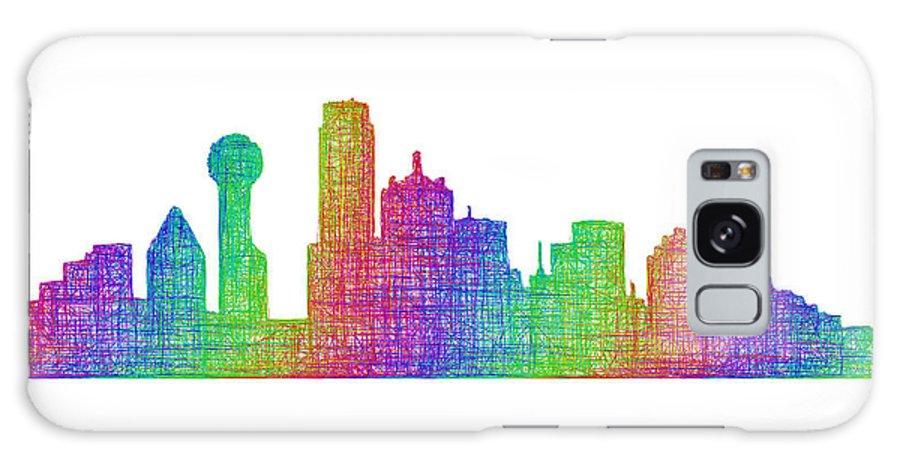 Dallas Galaxy S8 Case featuring the digital art Dallas Skyline by David Zydd