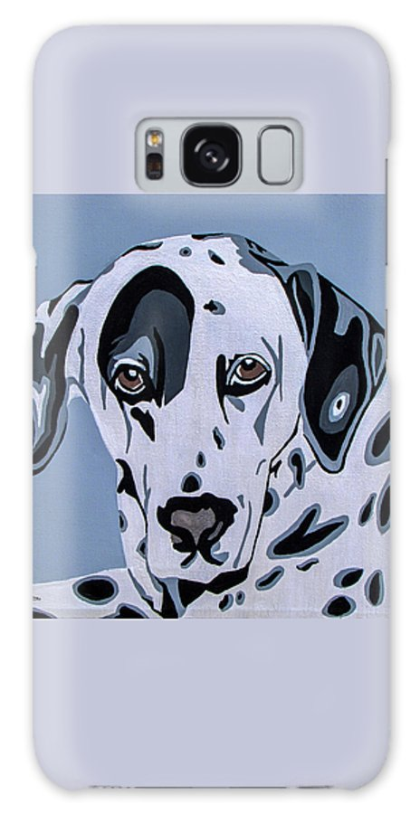Dalmatian Galaxy S8 Case featuring the painting Dalmatian by Slade Roberts
