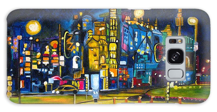 Cityscape Galaxy S8 Case featuring the painting Dam Square by Patricia Arroyo