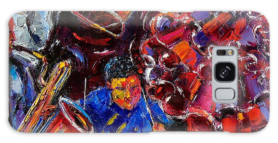 Jazz Galaxy S8 Case featuring the painting Dance Latino by Debra Hurd