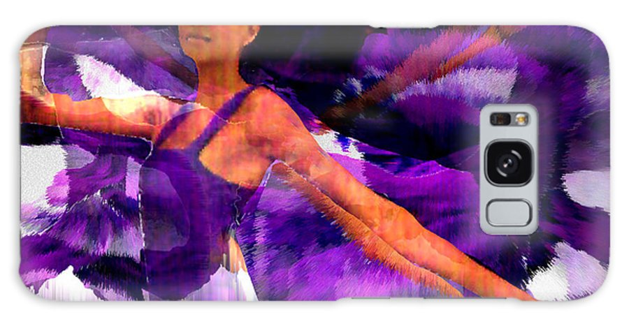 Mystical Galaxy S8 Case featuring the digital art Dance Of The Purple Veil by Seth Weaver