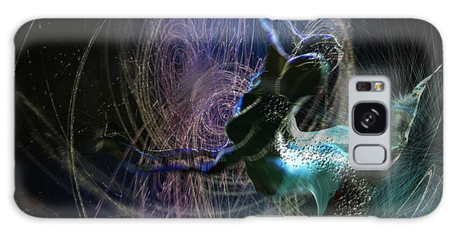 Nature Painting Galaxy Case featuring the painting Dance Of The Universe by Miki De Goodaboom