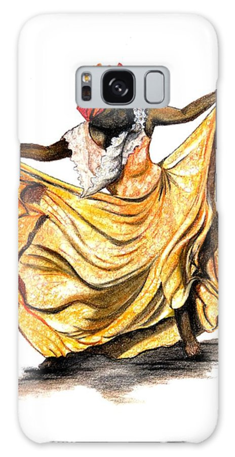 Dancer Galaxy S8 Case featuring the pastel Dance The Belair by Karin Dawn Kelshall- Best