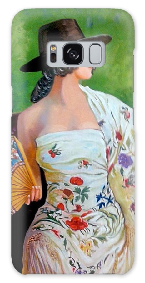Women Galaxy S8 Case featuring the painting Dancer by Jose Manuel Abraham