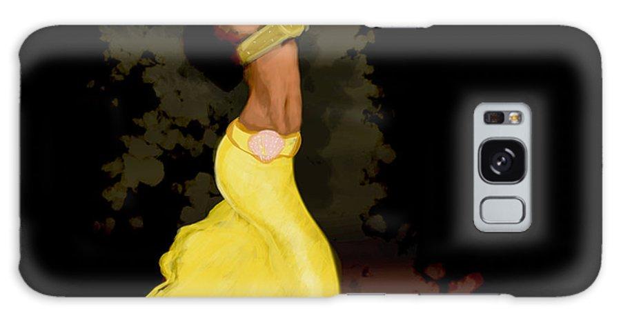 Belly Dancer Galaxy S8 Case featuring the digital art Dancer by Mathieu Lalonde