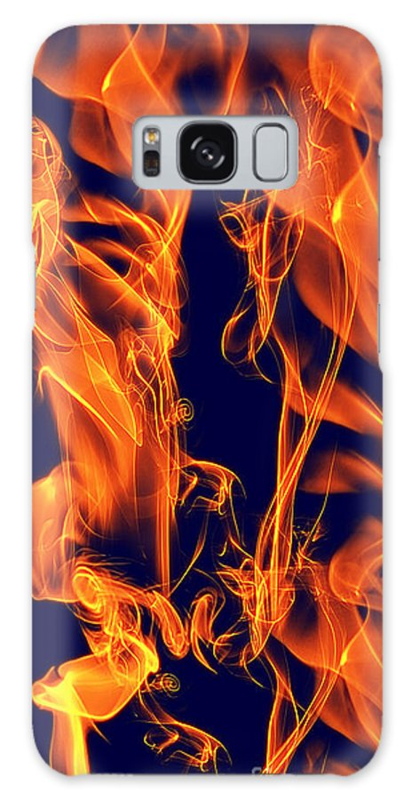 Clay Galaxy S8 Case featuring the digital art Dancing Fire I by Clayton Bruster