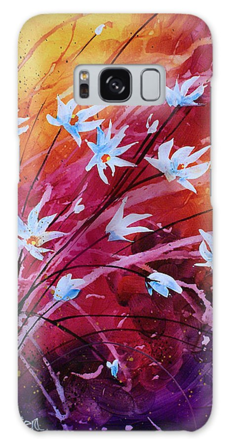 Flowers Galaxy S8 Case featuring the painting Dancing Flowers by Michael Lang