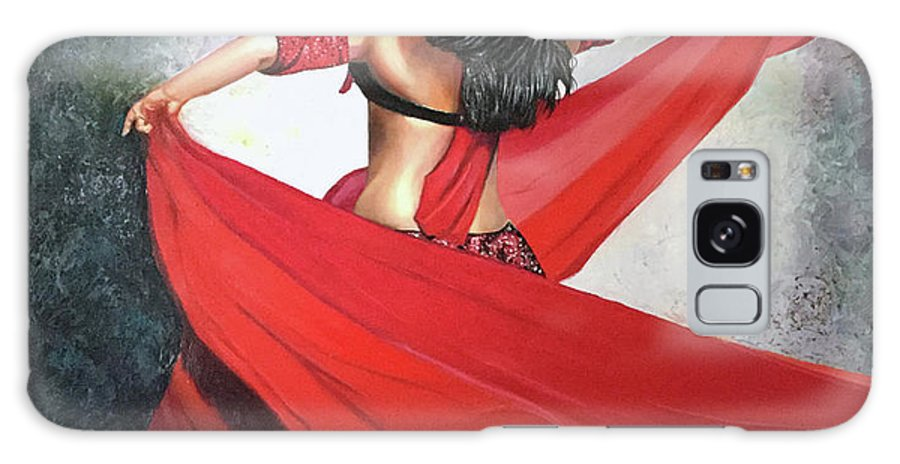 Belly Dancing Galaxy Case featuring the painting Dancing Lady by Jose Manuel Abraham