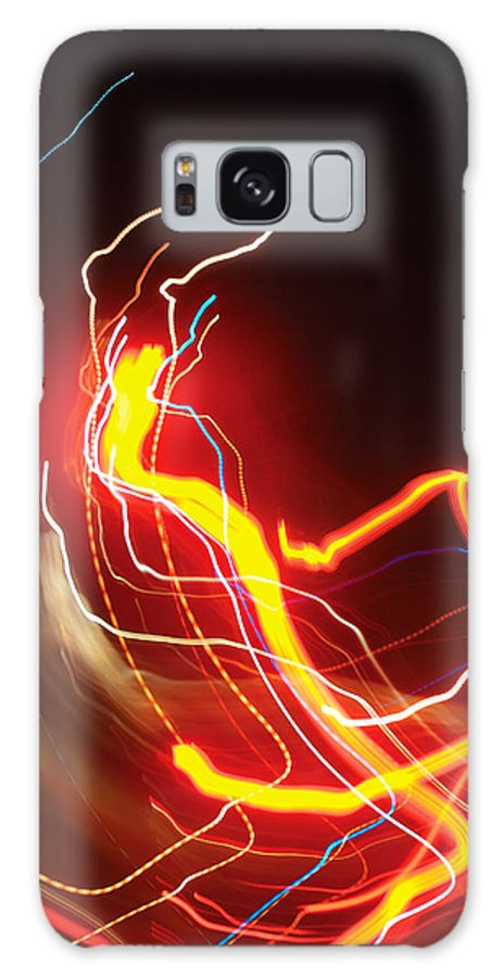 Abstract Galaxy S8 Case featuring the photograph Dancing Light Streaks-1 by Steve Somerville