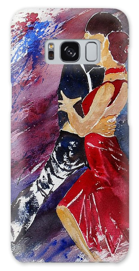 Tango Galaxy Case featuring the painting Dancing Tango by Pol Ledent