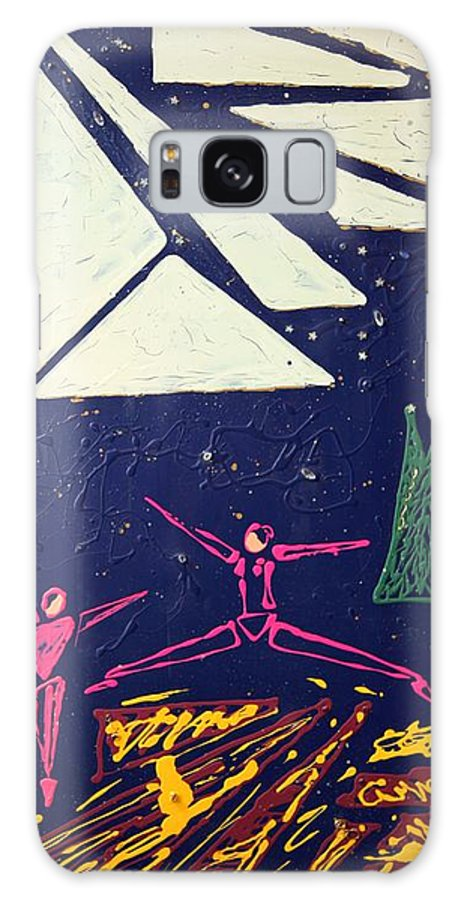 Dancers Galaxy Case featuring the mixed media Dancing Under The Starry Skies by J R Seymour