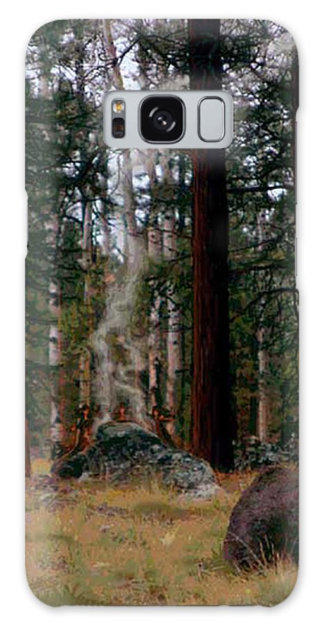 Raihu Galaxy S8 Case featuring the photograph Dancing With Fire by Sin D Piantek