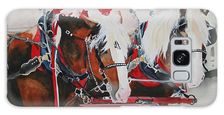 Horse Galaxy S8 Case featuring the painting Dandy Duo by Jean Blackmer