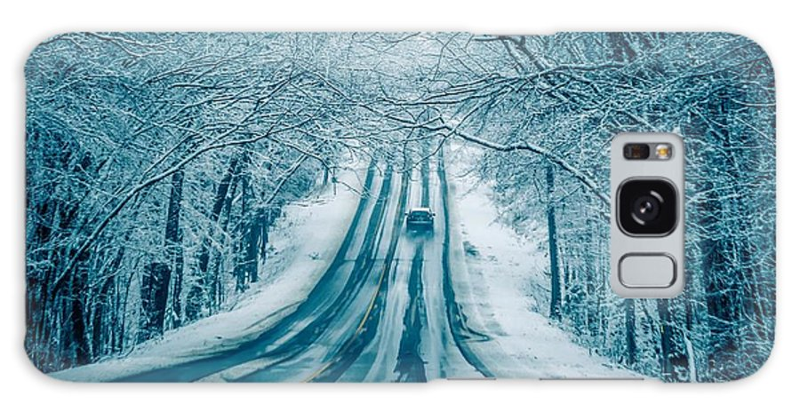 Road Galaxy S8 Case featuring the photograph Dangerous Slippery And Icy Road Conditions by Alex Grichenko