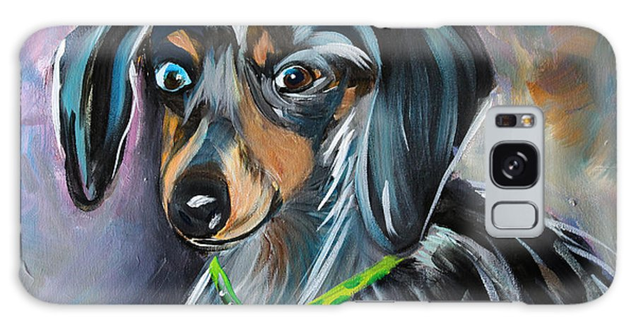 Studio Galaxy S8 Case featuring the painting Dapple Dachshund by Sonya Delaney