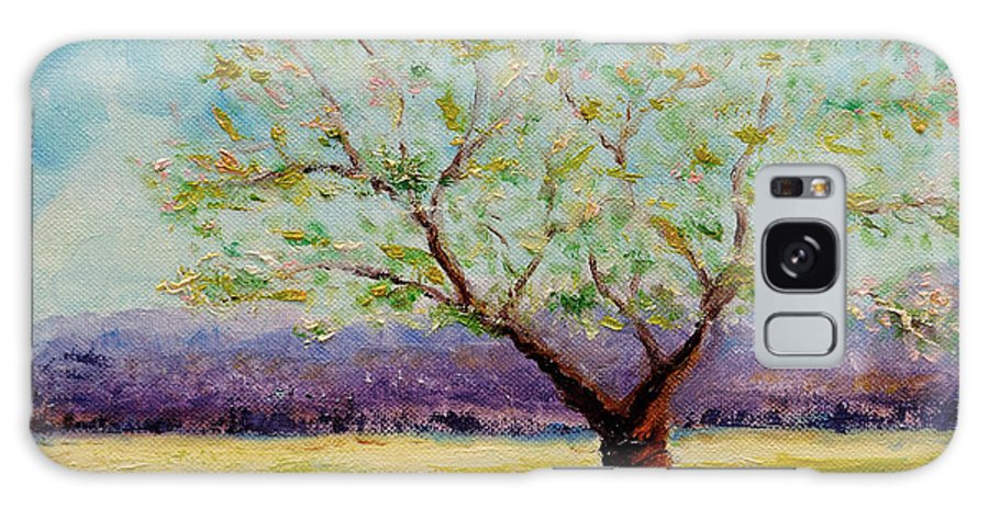Farm Galaxy S8 Case featuring the painting Dapples Apple Tree II by Cindy Roesinger