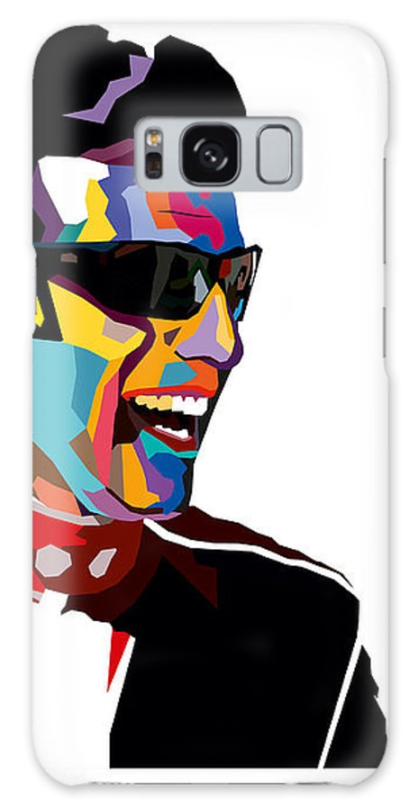 Racing Galaxy S8 Case featuring the digital art Dario Franchitti Pop Art Style by Jim Bryson