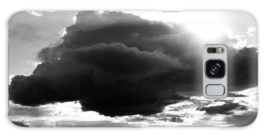 Black And White Galaxy S8 Case featuring the photograph Dark Cloud by Ron Bissett