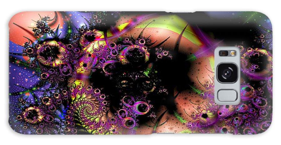 Fractal Galaxy S8 Case featuring the digital art Dark Matter Revealed by Ron Bissett
