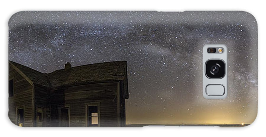 Milky Way Galaxy S8 Case featuring the photograph Dark Place Pano by Aaron J Groen