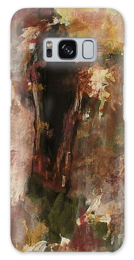 Abstract Galaxy Case featuring the painting Dark Presence by Itaya Lightbourne