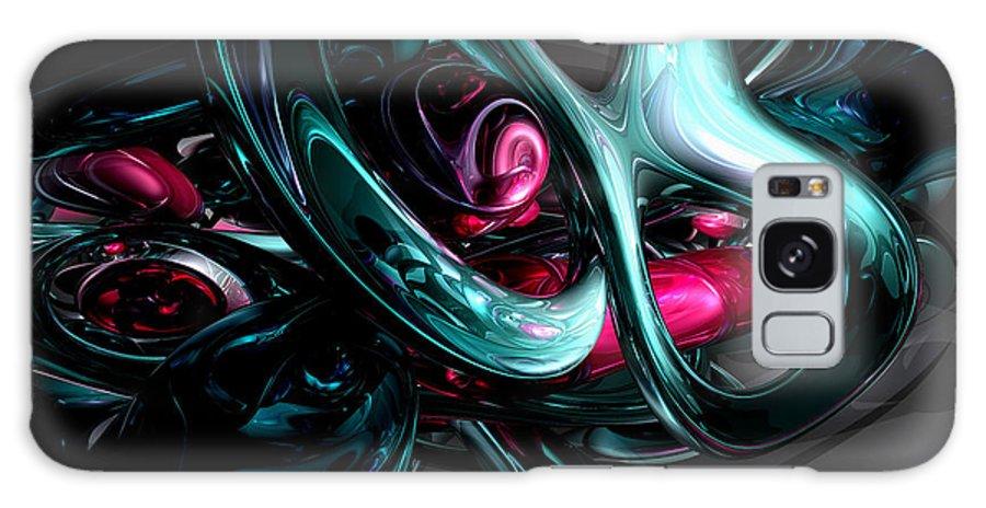 3d Galaxy S8 Case featuring the digital art Dark Secrets Abstract by Alexander Butler