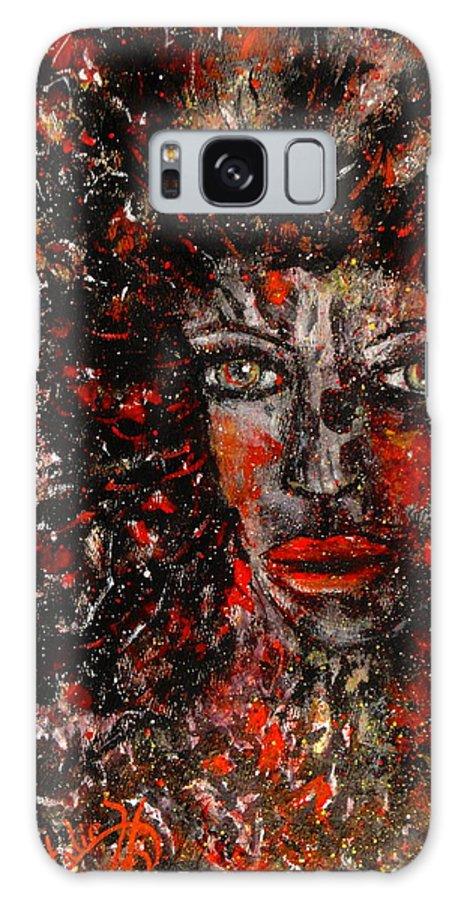 Dark Spirit Galaxy S8 Case featuring the painting Dark Spirit by Natalie Holland