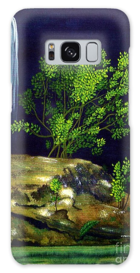 Fine Art Galaxy S8 Case featuring the painting Dark Waters by Patricia Griffin Brett