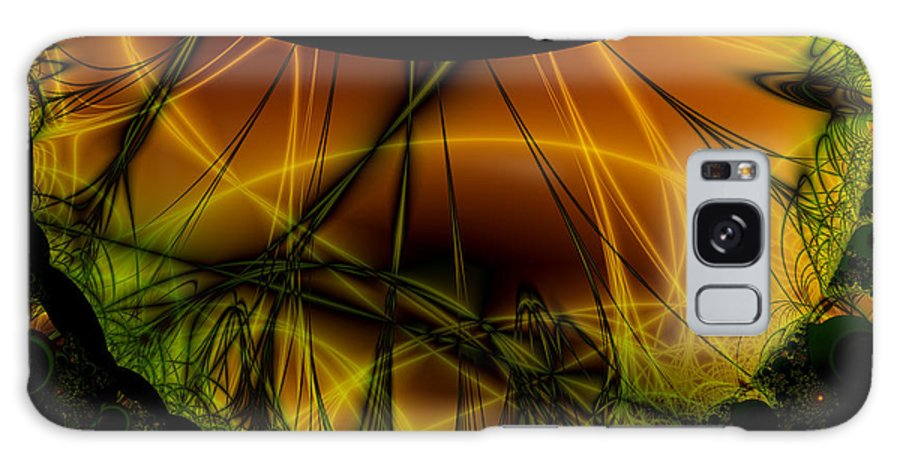 Abstract Galaxy S8 Case featuring the digital art Dark Woods by Frederic Durville