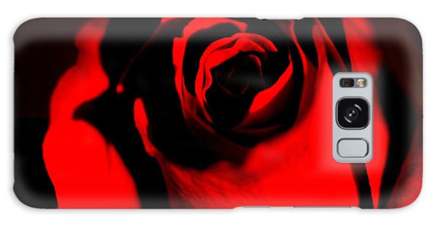 Rose Galaxy S8 Case featuring the photograph Darkened Rose by Noah Cole