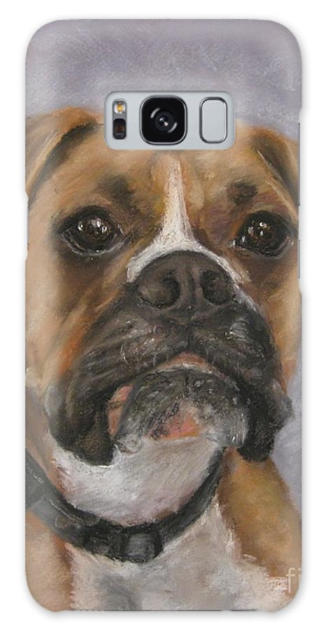 Boxers Galaxy S8 Case featuring the painting Dave by Elizabeth Ellis