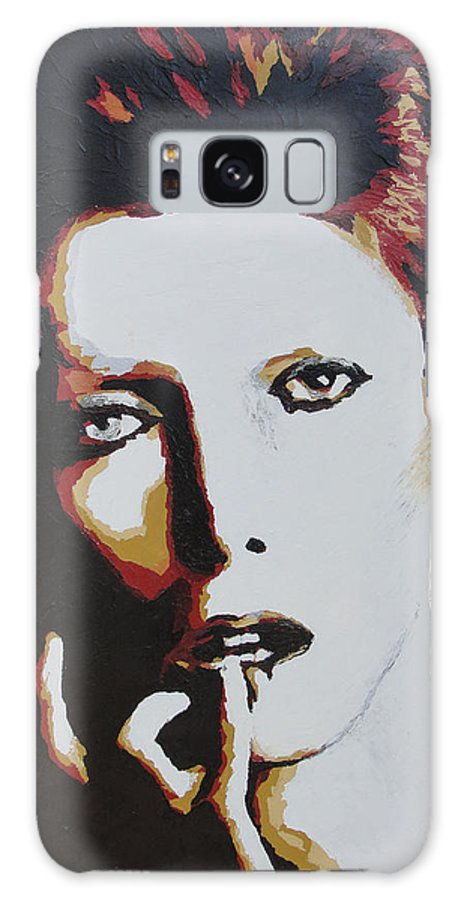 David Bowie Galaxy S8 Case featuring the painting David Bowie by Ricklene Wren