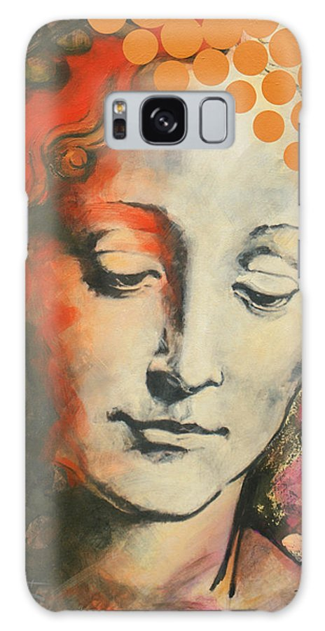 Figurative Galaxy Case featuring the painting Davinci's Head by Jean Pierre Rousselet