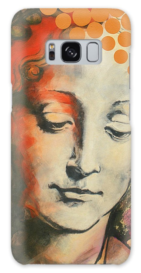 Figurative Galaxy S8 Case featuring the painting Davinci's Head by Jean Pierre Rousselet