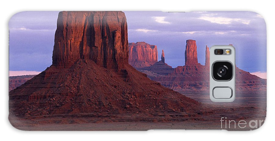 Monument Valley Galaxy S8 Case featuring the photograph Dawn At Monument Valley by Sandra Bronstein