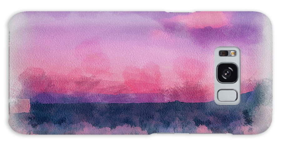 Santa Galaxy S8 Case featuring the painting Dawn In Taos In Aquarelle by Charles Muhle