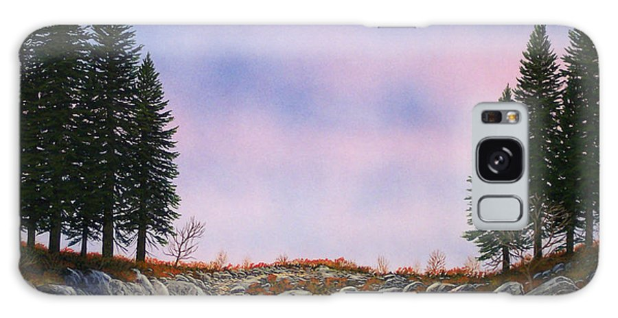 Landscape Galaxy Case featuring the painting Dawn Pacific Crest Trail by Frank Wilson