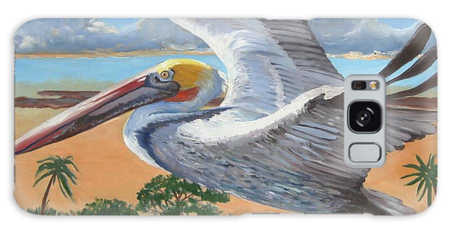Flying Pelican Galaxy S8 Case featuring the painting Dawn Patrol by D T LaVercombe