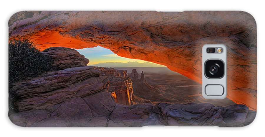 Mesa Arch Galaxy Case featuring the photograph Dawns Early Light by Mike Dawson