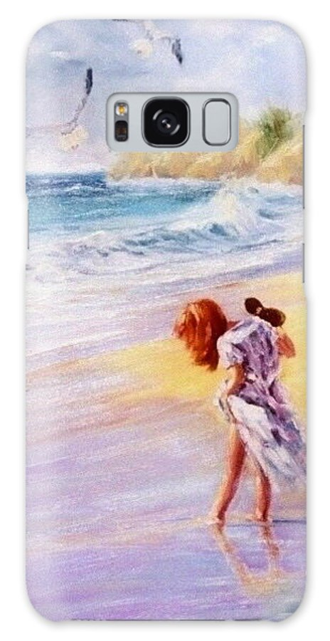 Seascape Galaxy S8 Case featuring the painting Day Dreamer by Laura Lee Zanghetti
