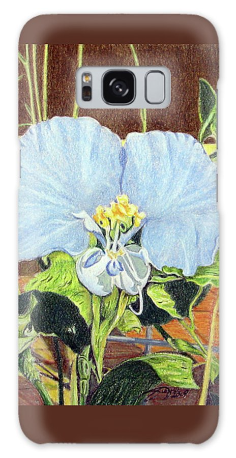Fuqua - Artwork Galaxy S8 Case featuring the drawing Day Flower by Beverly Fuqua
