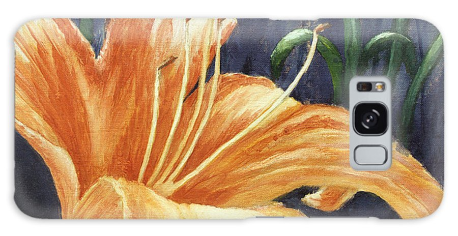 Flower Galaxy S8 Case featuring the painting Daylily by Todd Blanchard