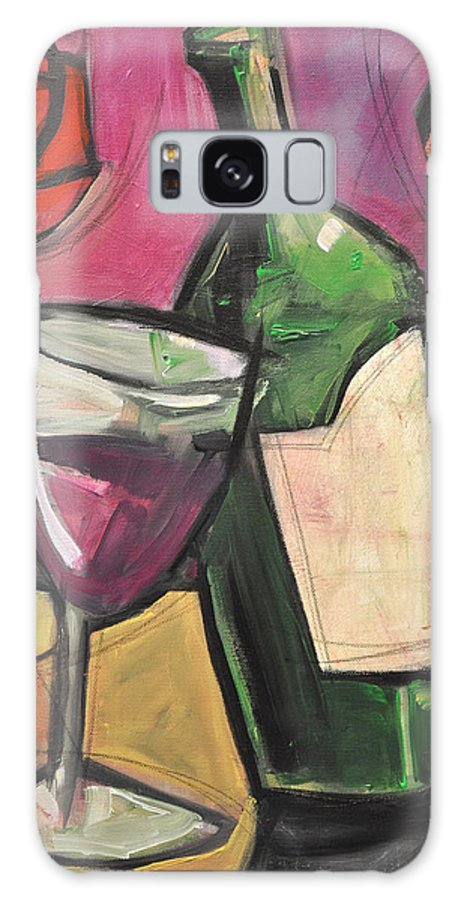 Wine Galaxy S8 Case featuring the painting Days Of Wine And Roses by Tim Nyberg