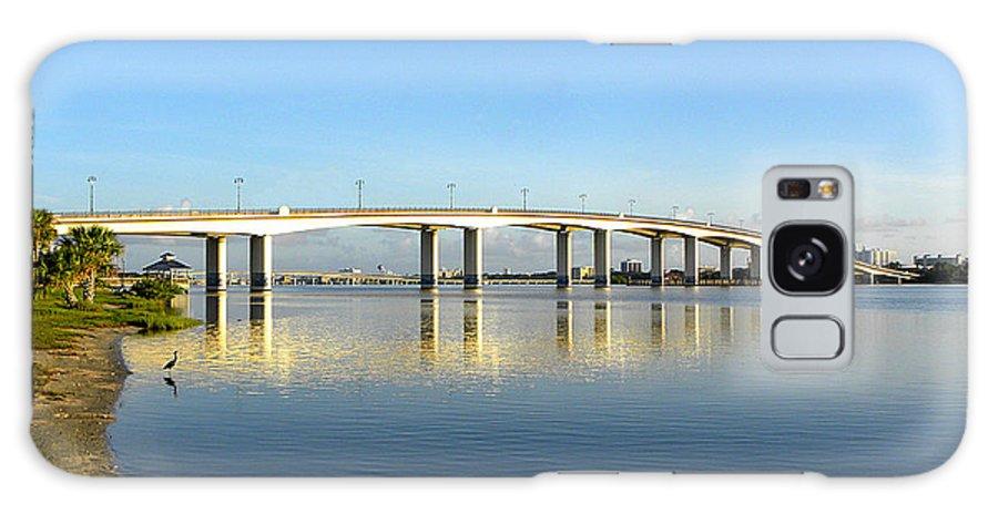 Daytona Galaxy S8 Case featuring the photograph Daytona Beach's Broadway Bridge by Chris Mercer