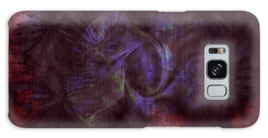 Abstract Art Galaxy S8 Case featuring the digital art Dead Cities by Linda Sannuti